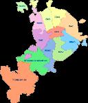 Схема Москвы по административным округам